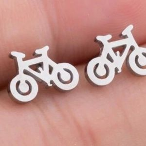 Bike stud earrings